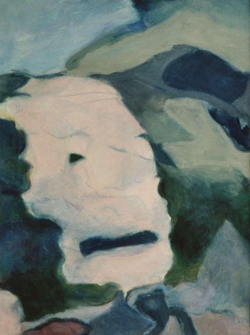 Maske, Mischtechnik auf Papier, 41 x 31 cm