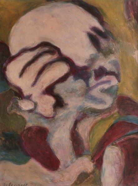 ohne Titel, Mischtechnik auf Papier, 61 x 46 cm