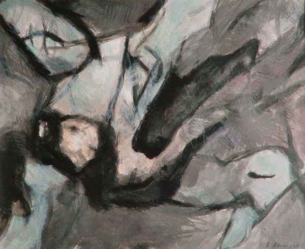 ohne Titel, Mischtechnik auf Papier, 31 x 41 cm