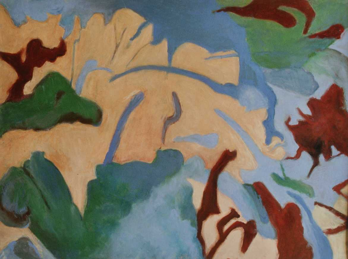 Mit Traumantrieb, Mischtechnik auf Papier, 46 x 61 cm