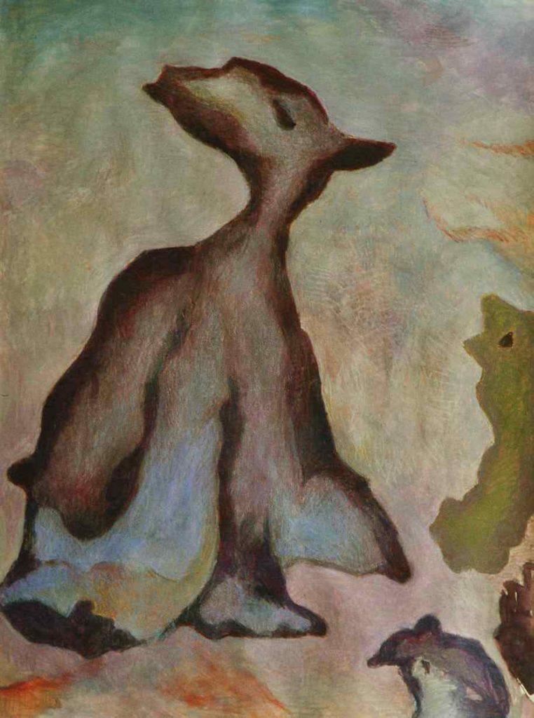 Weg allein, 61 x 46 cm, Mischtechnik auf Papier