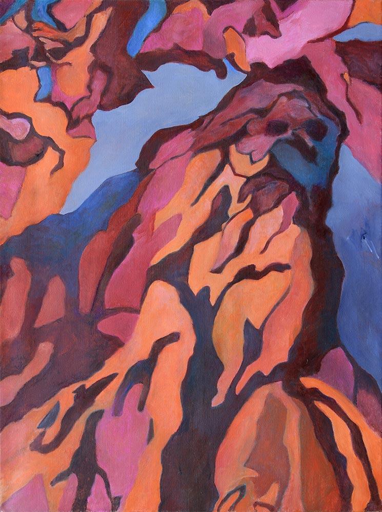 Oktober, 120 x 90 cm, Öl auf Leinwand
