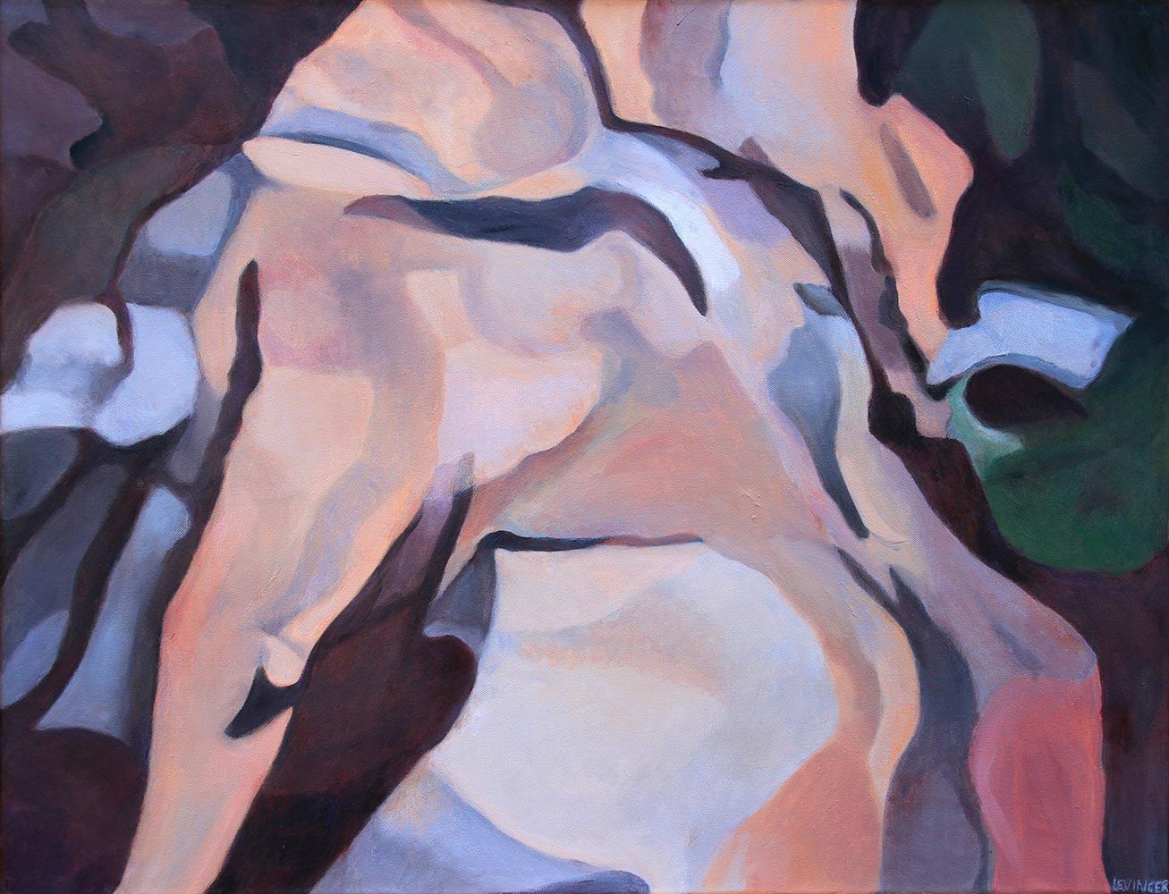 Torso, 90 x 120 cm, Öl auf Leinwand