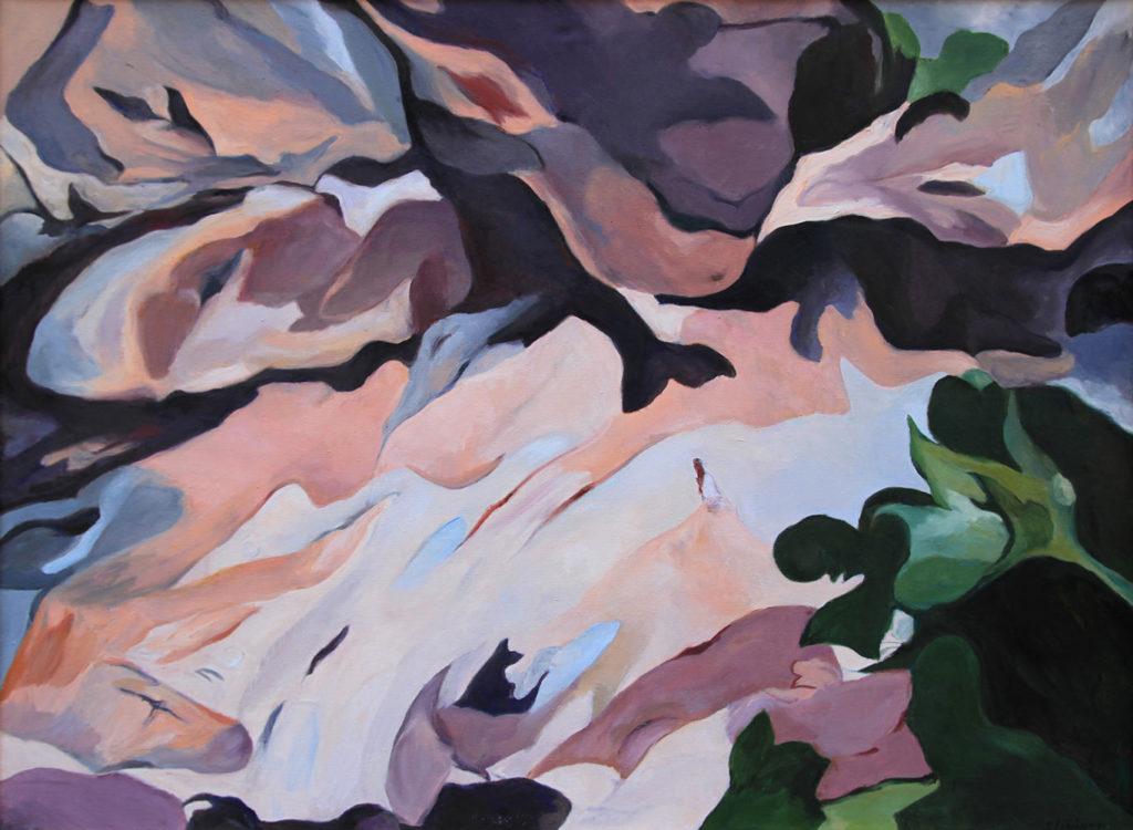 Schattenspiele, 110 x 150 cm, Öl auf Leinwand