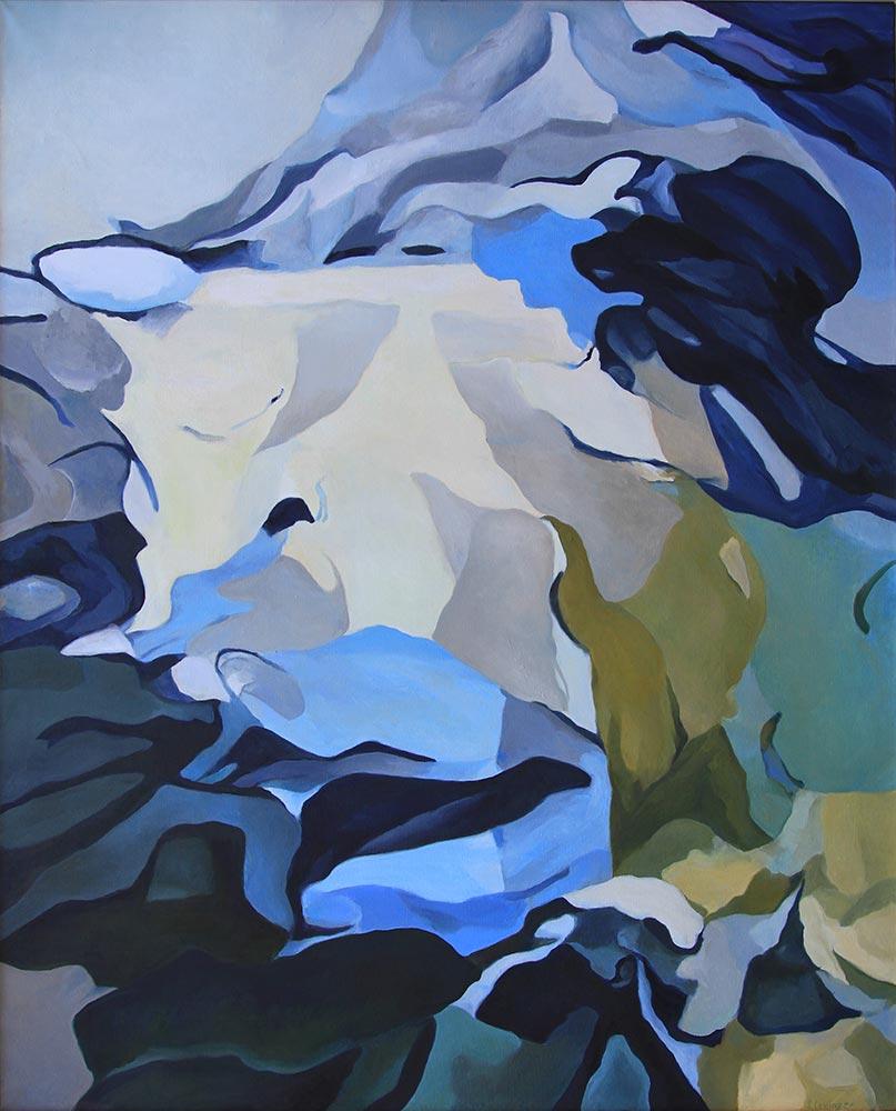Gläserner Tag, 160 x 130 cm, Öl auf Leinwand
