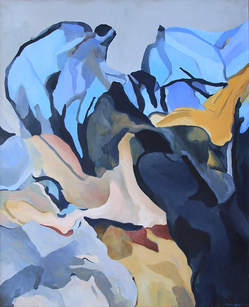 Weg hinauf, 160 x 130 cm, Öl auf Leinwand