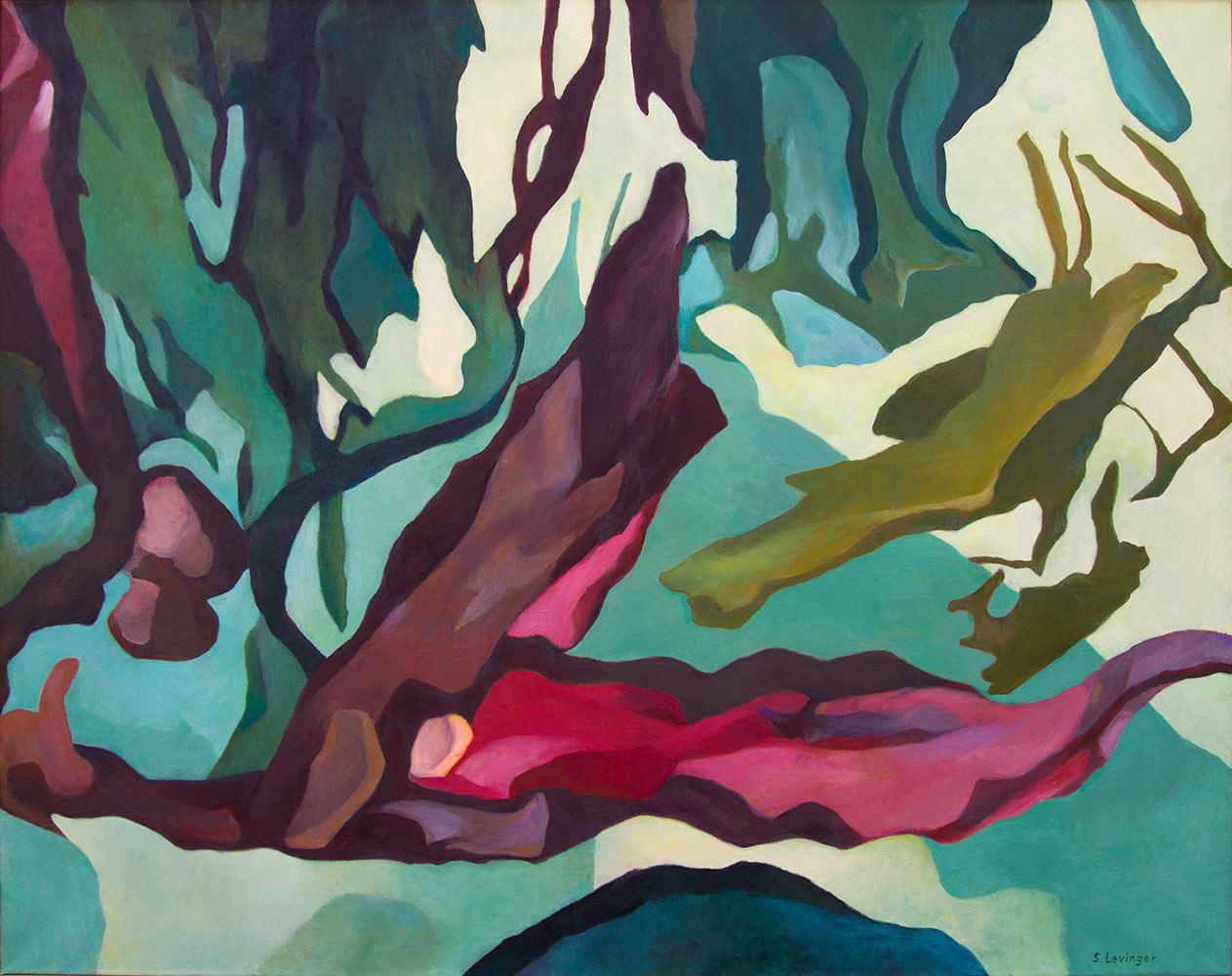 Hineinwachsen, 135 x 170 cm, Öl auf Leinwand
