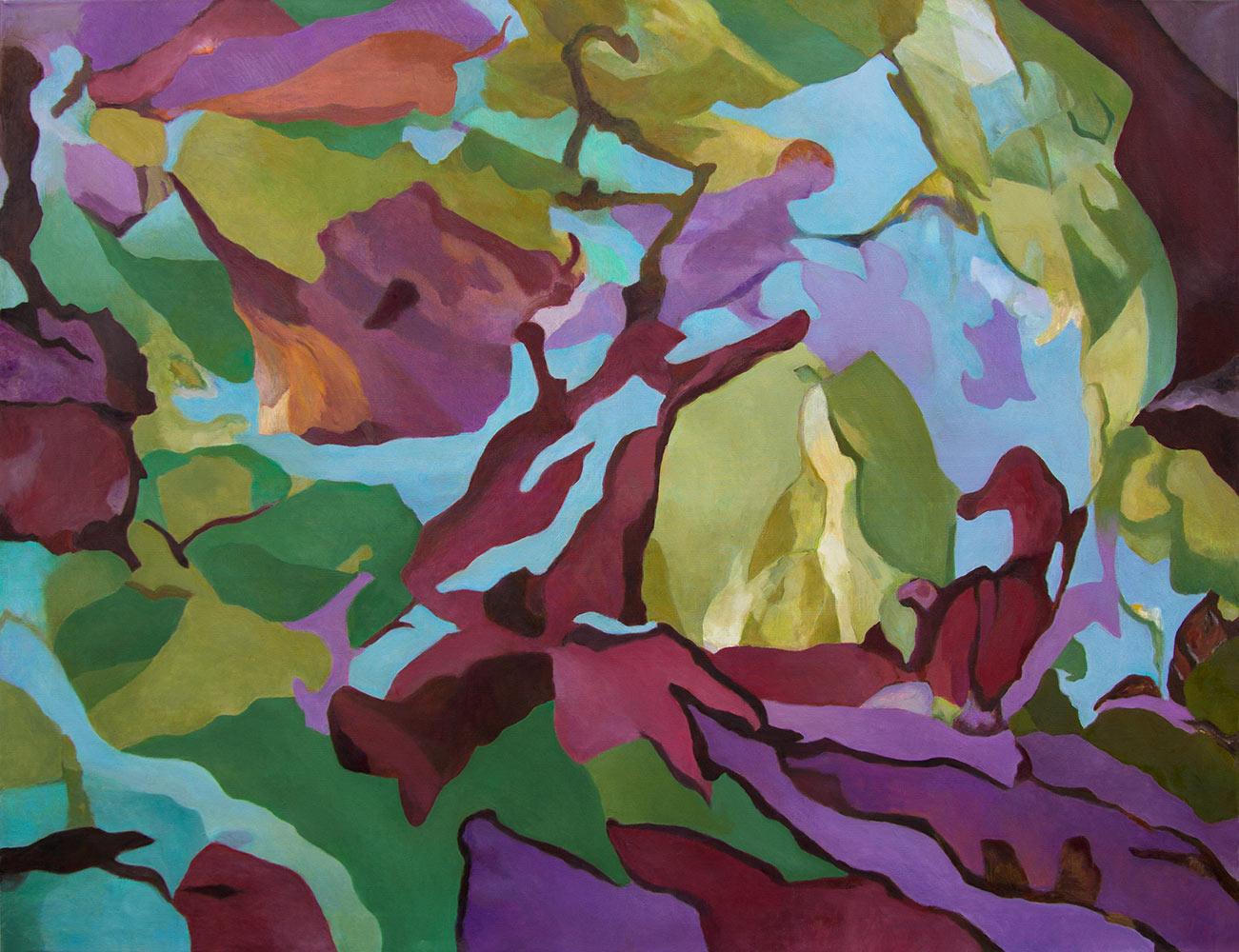 Reigen, 135 x 170 cm, Öl auf Leinwand