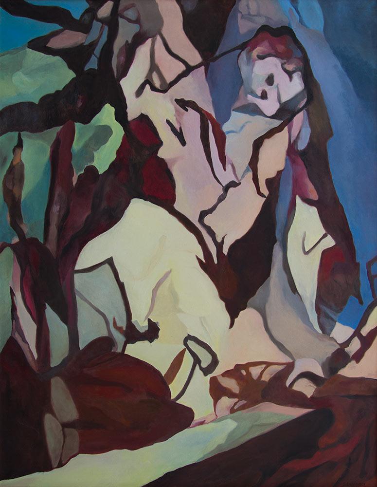 Erhebung, 180 x 140 cm, Öl auf Leinwand