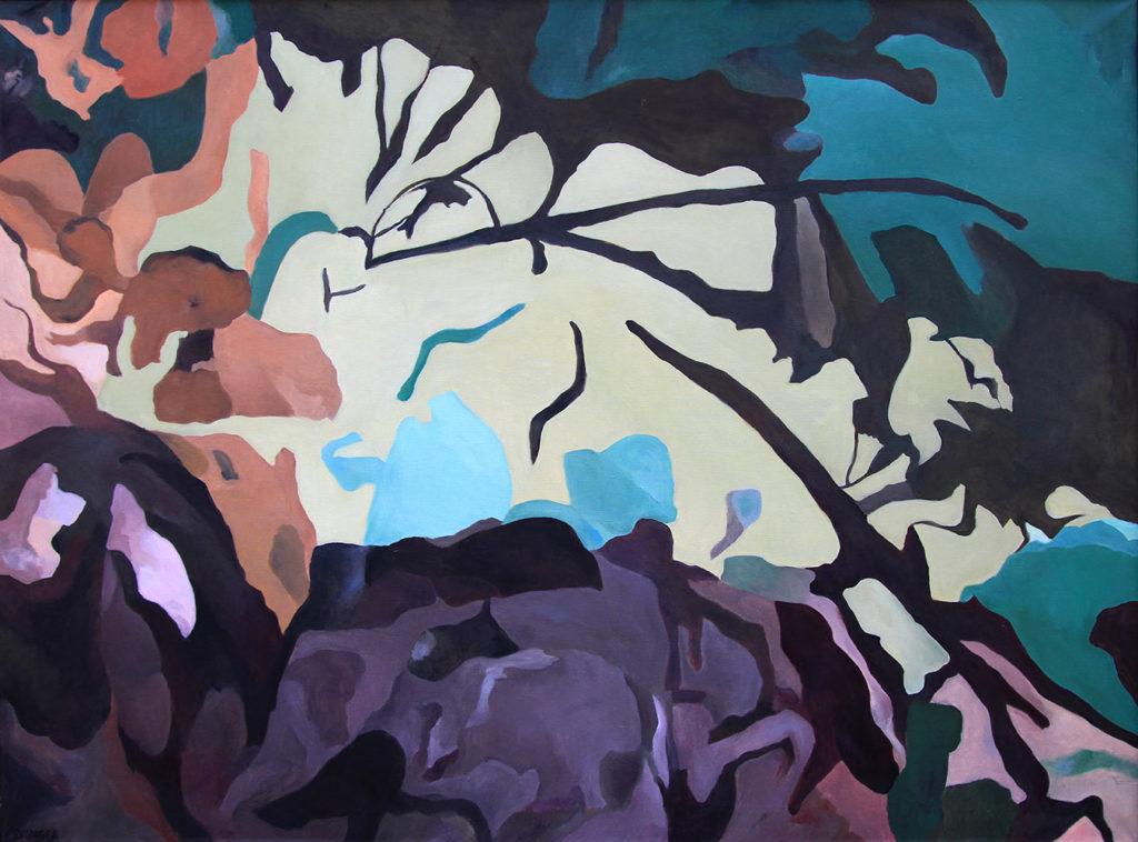 Herbstlicht, 140 x 190 cm, Öl auf Leinwand