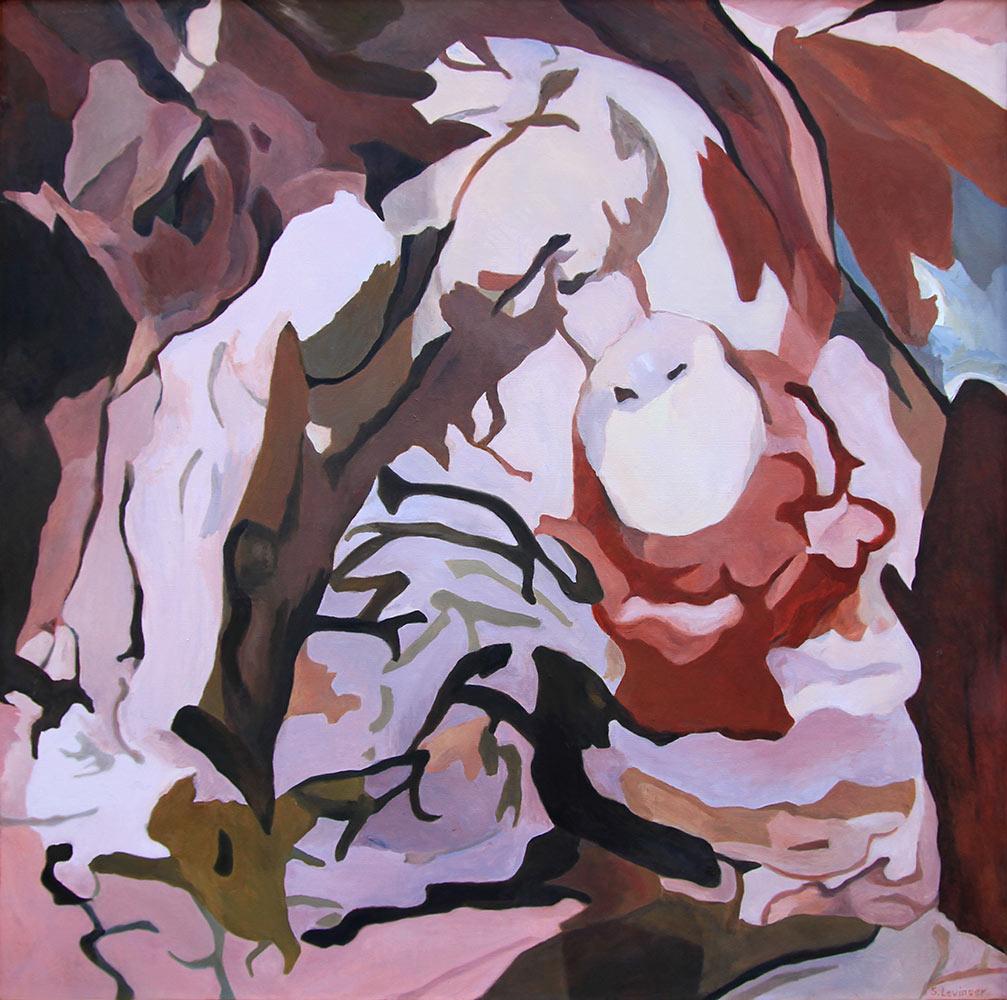 Schütterer Klang, 150 x 150 cm, Öl auf Leinwand