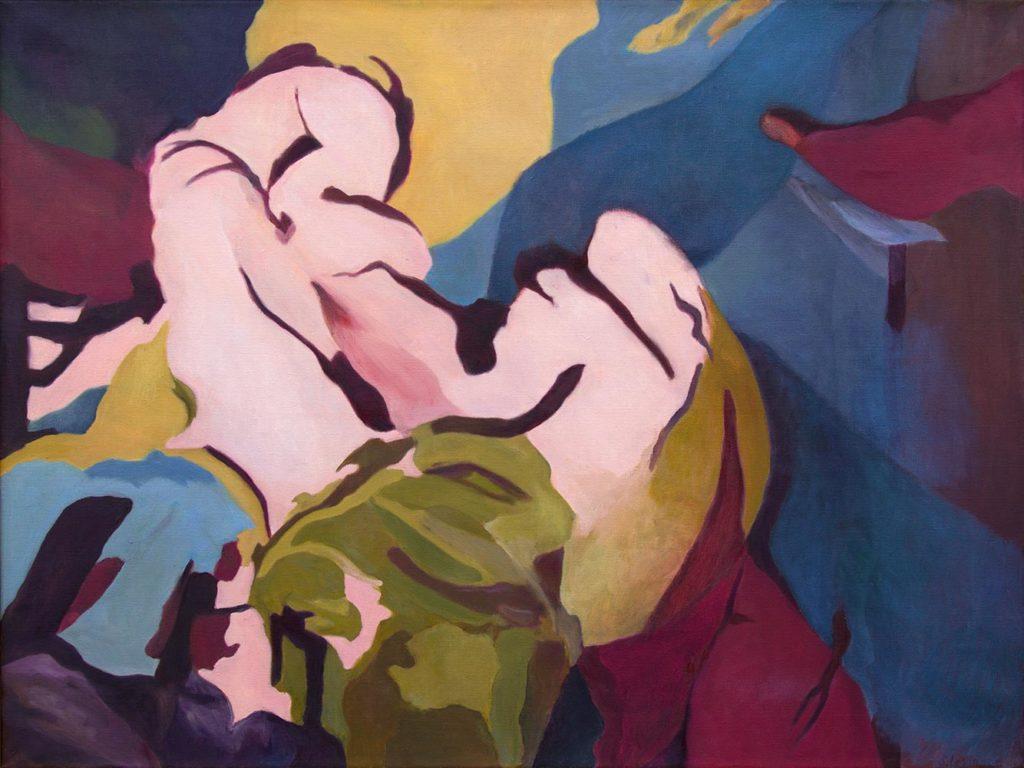 Tarnung, 90 x 120 cm, Öl auf Leinwand